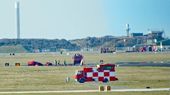 Crash scene at RAF Valley (David Robert Jones/@Monwysyn)