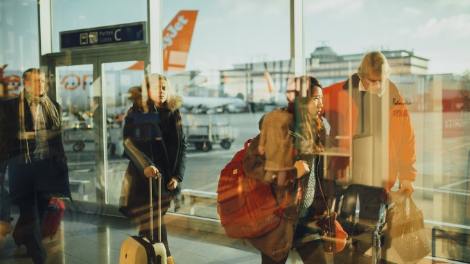 Passengers in airport