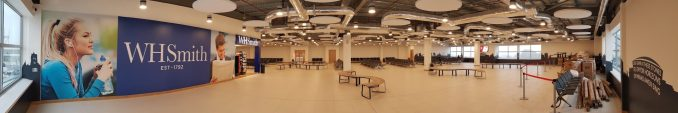 Cardiff Airport Departure Lounge Panorama