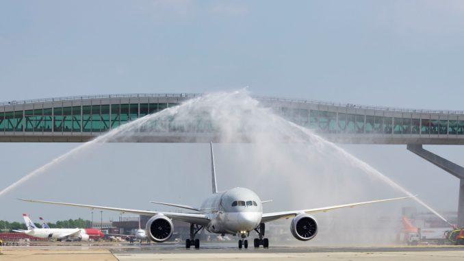 Qatar Airways at Gatwick Airport