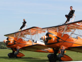 Katie and Kirsten prepare for a training flight (Image: The Aviation Media Co.)
