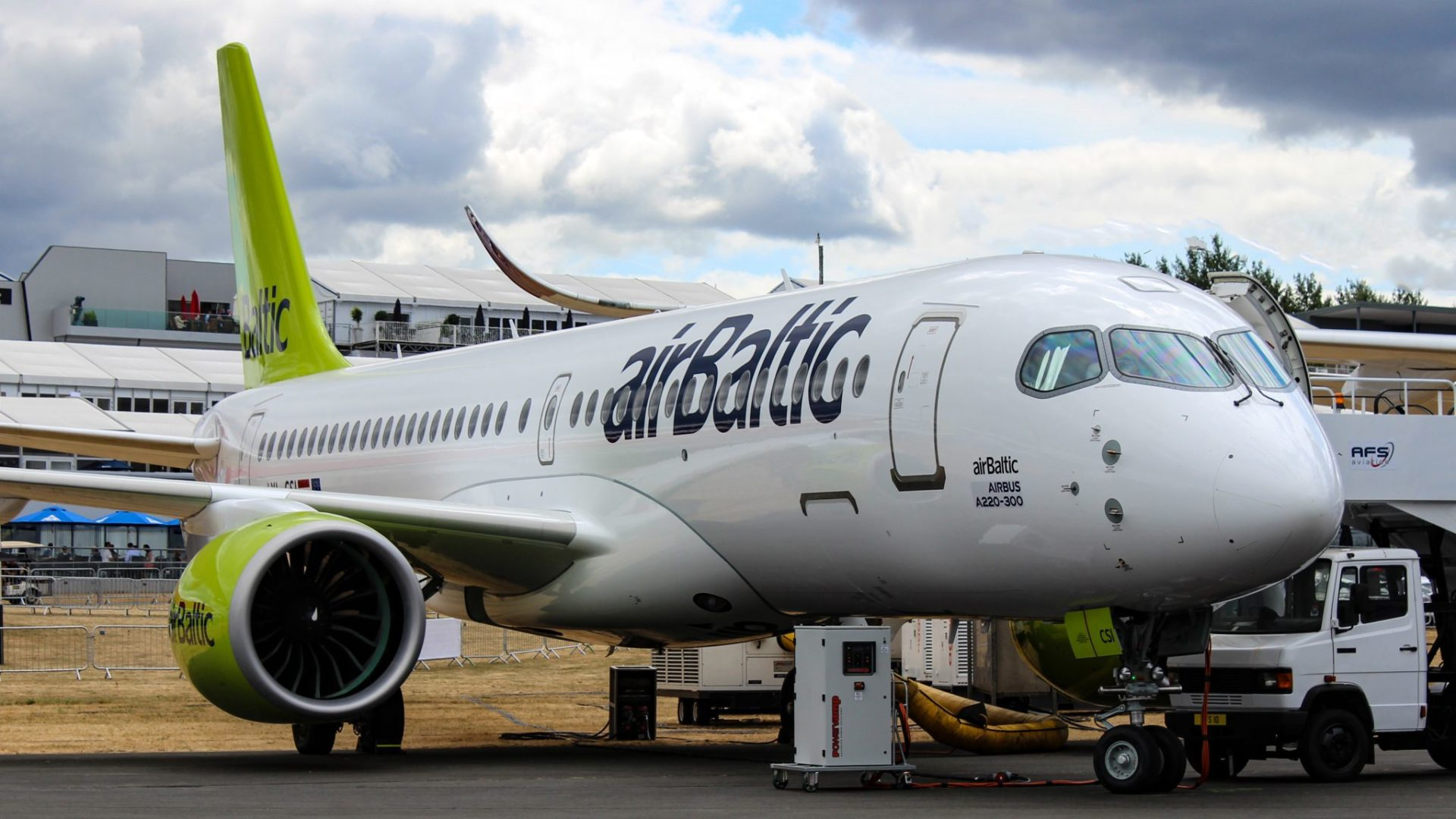 Airbus A220-300 in Air Baltic livery (Image: TAMC)