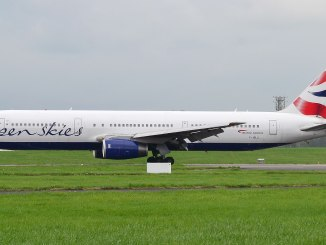 Openskies 767 F-HILU turns off the runway at MOD St Athan (Image: Ian Grinter/SWAG)