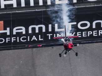 Ben Murphy of Great Britain performs during the finals at the seventh round of the Red Bull Air Race World Championship at Indianapolis Motor Speedway, Indianapolis, Indiana, United States on October 7, 2018.