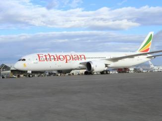 An Ethiopian Airways Boeing 787 Dreamliner