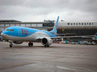 TUI 737 Max 8 G-TUMA at Manchester Airport