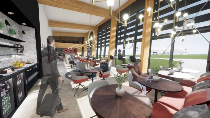 Interior view of Manchester Airports new PremiAir terminal