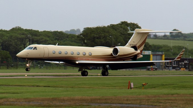 An Embraer Executive Jet arrives at Cardiff Airport. Aircraft like these will now be handled by Global Trek Aviation (Image: The Aviation Media Co.)