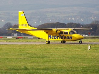 Hebridean Air Services Islander (Image: Mark Harkin CC BY-SA2.0)
