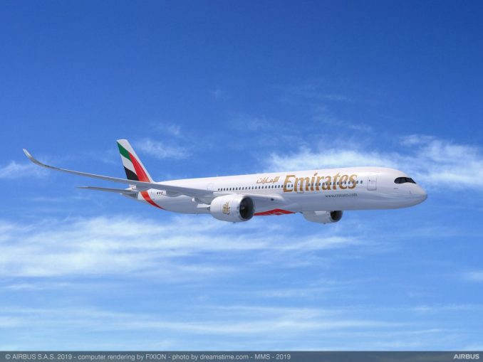 Emirates A350-900 Artists Impression (Image: Airbus)