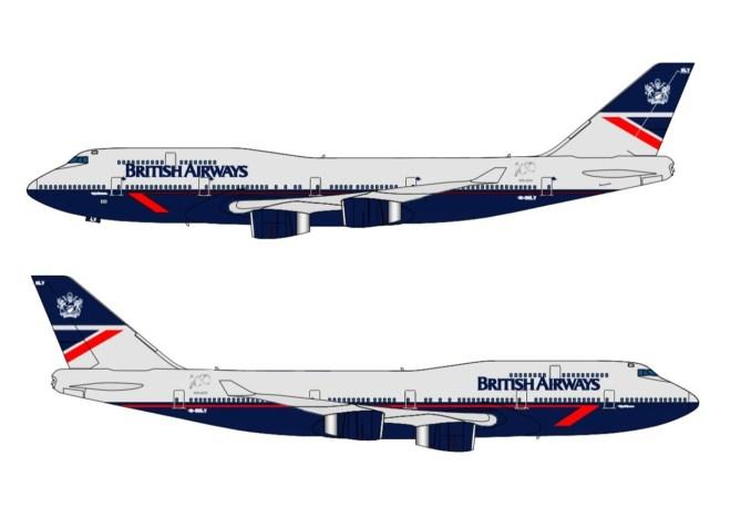 British Airways G-BNLY Landor for BA100