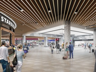 Luton Airport - Rendering of new departure area