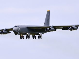 A Boeing B-52H approaching RAF Fairford (Image: TransportMedia UK)