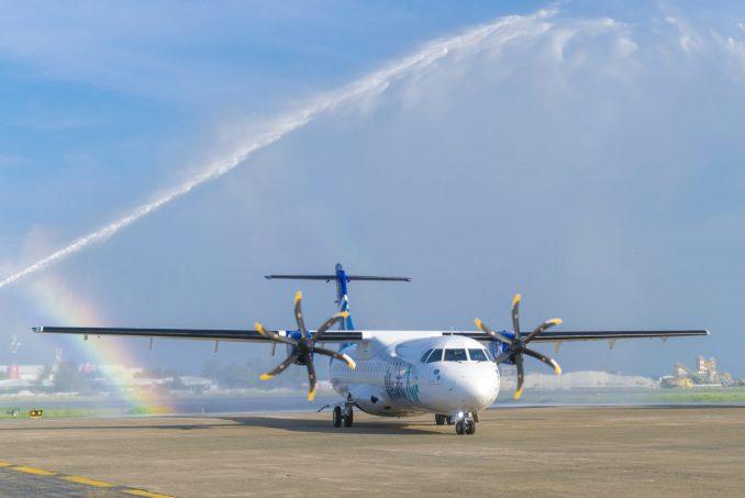 Manta Air operate a pair of ATR600's in the Maldives