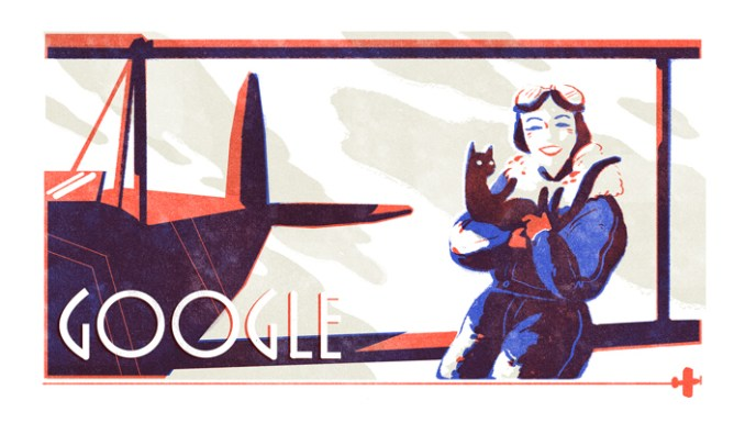 Jean Batten's Google Doodle