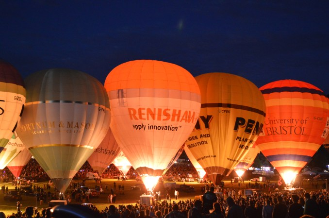 A nightglow of balloons, this one from the Bristol Balloon Fiesta, will take place along Swansea Beach