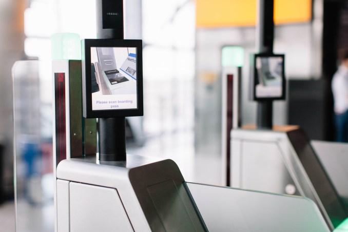 Biometric boarding gates (Image: British Airways/Stuart Bailey)