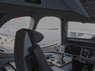 Captains seat of an Airbus A350-1000 (Image: TransportMedia UK)