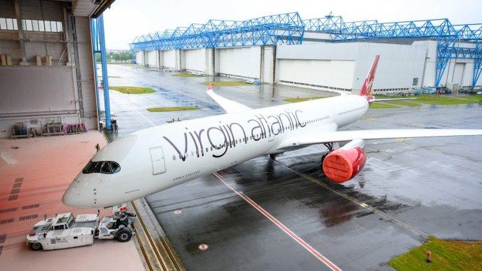 Virgin Airbus A350-1000 G-VPOP rolls out of the paintshop (Image: Virgin Atlantic)