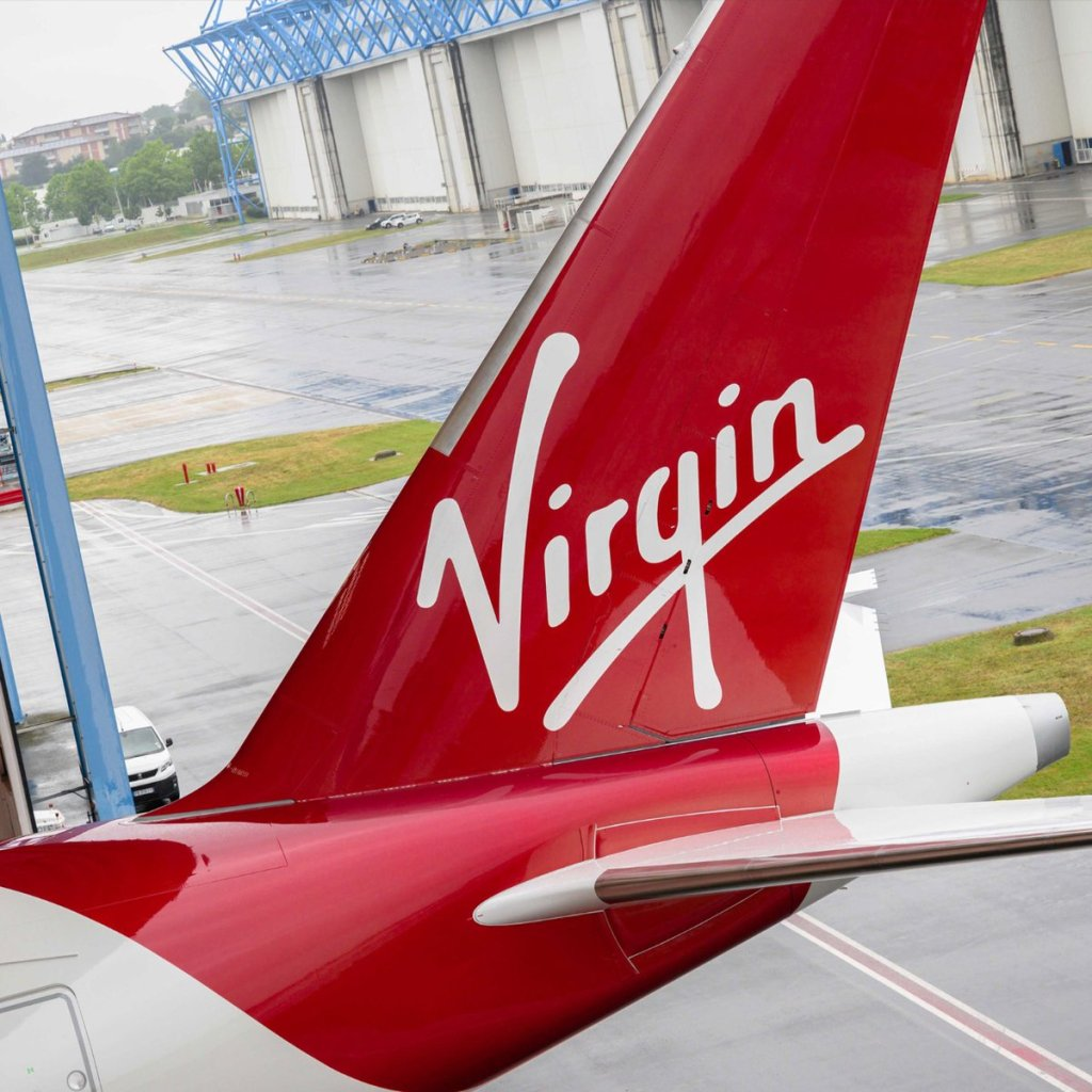 The tail of Virgins latest Airbus A350-1000 (Image: Virgin Atlantic)