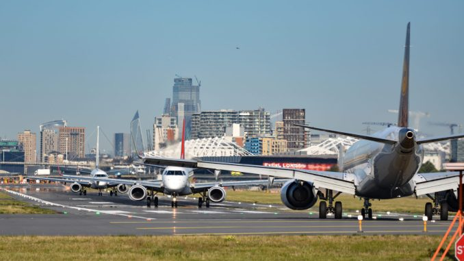 A busy scene at London City Airport (Image: TransportMedia UK)