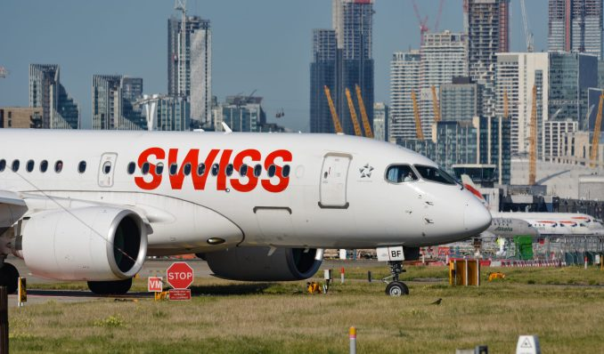 Swiss Airbus A220 (Image: TransportMedia UK)