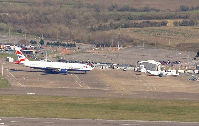 A British Airways 777 at Cardiff Airport (Image: John Bulpin)