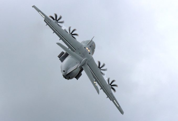 An Airbus A400M performing a Steep climbout (TransportMedia UK)