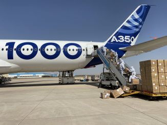 A350-1000 cargo loading in Tianjin_