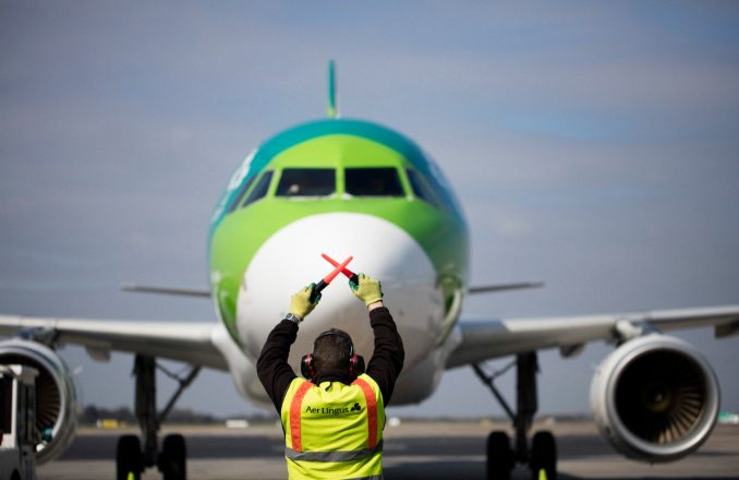 Aer Lingus A320 at Dublin Airport