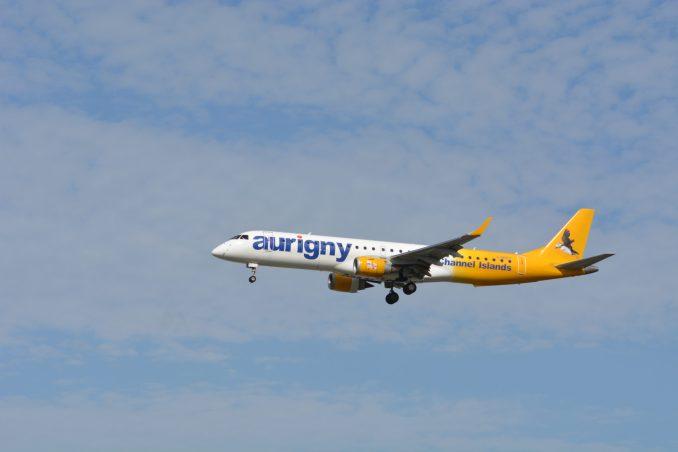 An Aurigny Embraer Image: Aviation Media Agency)