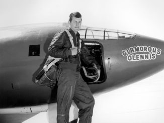 Chuck Yeager and the Bell X-1 used to break the sound barrier
