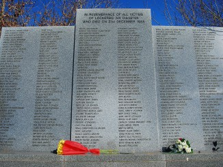 Memorial at Lockerbie Cemetery