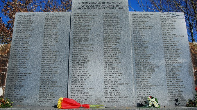 Memorial at Lockerbie Cemetery