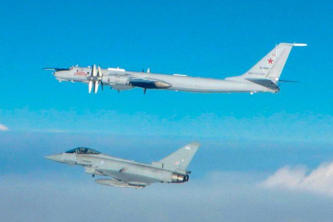 RAF Typhoon intercepts a Russian Bear (Image: MOD/Crown Copyright)