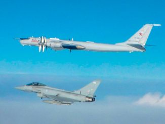 RAF Typhoon intercepts a Russian Bear (Image: MOD/Crown Copyright)