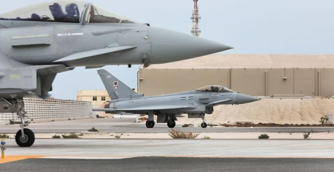 Typhoons in Qatar (Image: Crown Copyright)