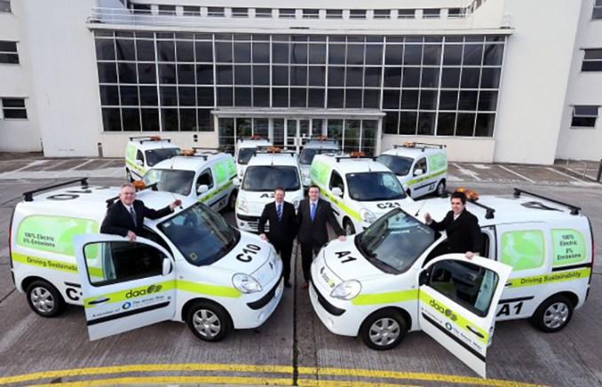 Electric vans at Dublin Airport
