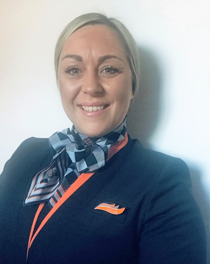"Cabin Crew Member Katy Bryant: ""As cabin crew we are in a great position to support the vaccination effort because of the first aid and safety-focused training we receive for our job"""