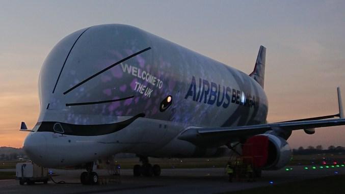Beluga XL arrives in the UK (Image: Airbus)