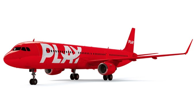 A render of an Airbus A321 in Play livery