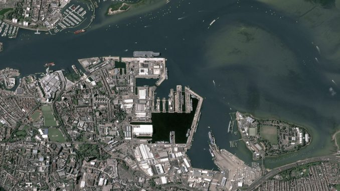 HMS Queen Elizabeth in Portsmouth, UK.