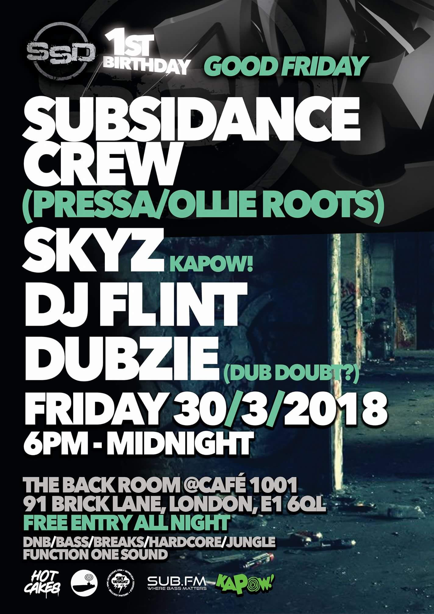 Subsidance 30th March