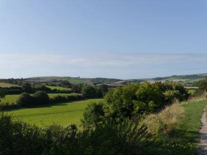 Aussicht auf der Plattform des Carisbrooke castle