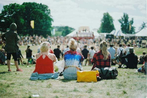 festival, girls at a festival