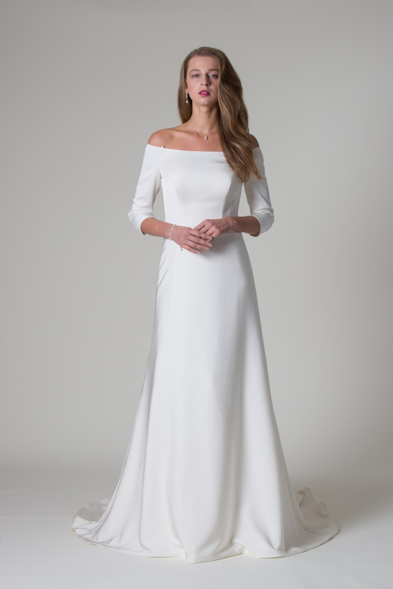 MiaMia simple Meghan Markle wedding dress trend