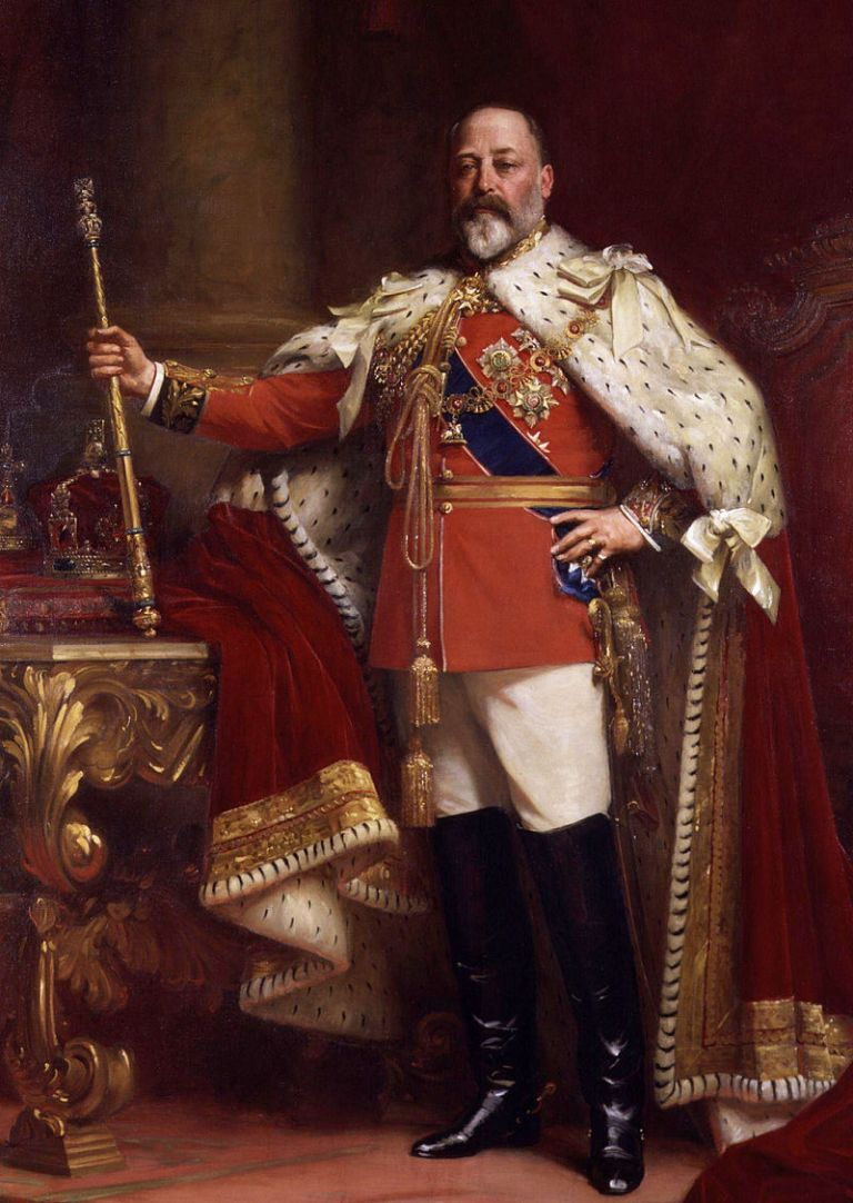 Edward VII commented on the redcoat of the toastmaster.