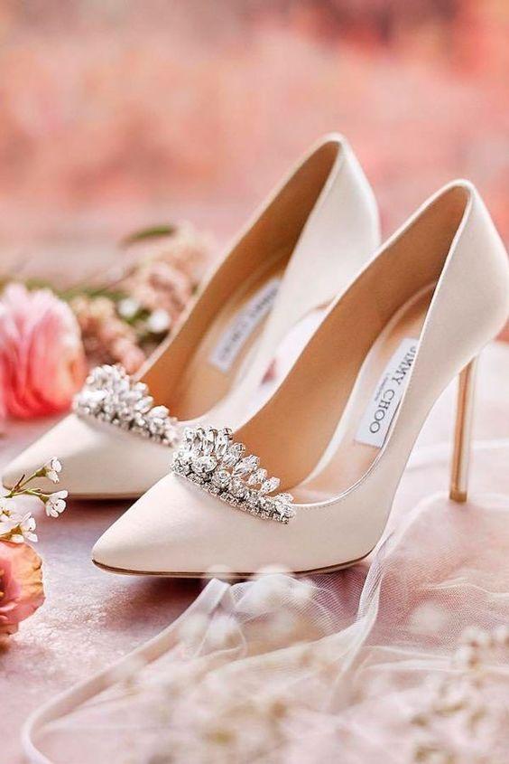 Jimmy Choo wedding heels.