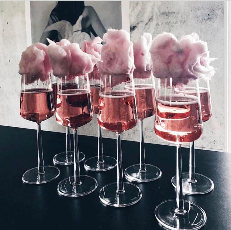 Candy Floss Champers.