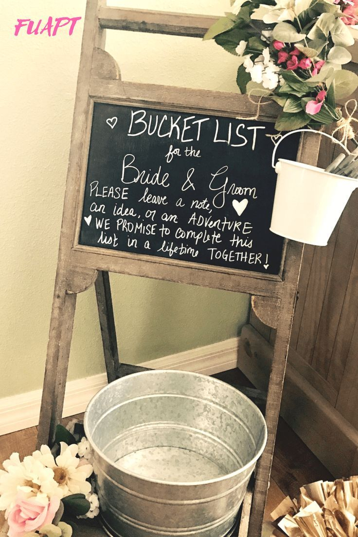 Bucket List Wedding Idea.